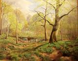 """Арт-студия """"Кентавр"""" - Прюн Харальд Юлиус Нильс  (1891-1968гг) - """"Весенний пейзаж"""", 1948г. №013759"""