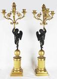 """Арт-студия """"Кентавр"""" - Парные бронзовые канделябры с амурами на 3 рожка №013767"""