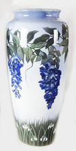 "Арт-студия ""Кентавр"" - Старинная ваза с изображением глицинии в стиле модерн (ар-нуво)  №013785"