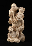 """Арт-студия """"Кентавр"""" - Окимоно """"Бог процветания и богатства, покровитель домашнего очага  Дайкоку с женщиной и карако на плече"""" №013831"""