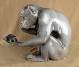 """Арт-студия """"Кентавр"""" - Фарфоровая скульптура """"Обезьяна и черепаха"""" №014013"""