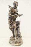 """Арт-студия """"Кентавр"""" - Бронзовая скульптура """"Нимфа, играющая на гитаре"""" №014114"""
