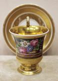 """Арт-студия """"Кентавр"""" - Чайная пара с изображением цветов в стиле ампир №014216"""