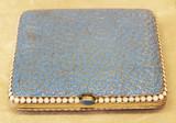 """Арт-студия """"Кентавр"""" - Старинный серебряный портсигар с эмалью №014258"""