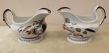 """Арт-студия """"Кентавр"""" - Парные соусники с изображением цветов и бабочек №014293"""