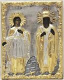 """Арт-студия """"Кентавр"""" - Старинная икона """"Святая великомученица Екатерина и святой Павел"""" №014381"""