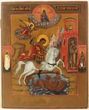 """Арт-студия """"Кентавр"""" - Старинная икона """"Святой великомученик Георгий Победоносец"""" №014398"""