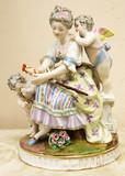 """Арт-студия """"Кентавр"""" - Фарфоровая статуэтка «Девушка и Амуры» №014412"""