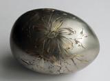 """Арт-студия """"Кентавр"""" - Антикварное серебряное яйцо с цветочным декором №014416"""