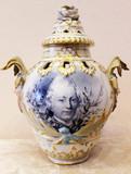 """Арт-студия """"Кентавр"""" - Антикварная фарфоровая ваза с крышкой №014430"""