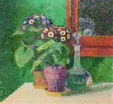 """Арт-студия """"Кентавр"""" - """"Натюрморт с цветочными горшками и графином"""" №014495"""