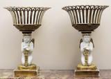 """Арт-студия """"Кентавр"""" - Парные вазы с фигурами амуров в стиле ампир №014529"""