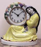 """Арт-студия """"Кентавр"""" - Старинные фарфоровые часы """"Узбечка с плодами"""" №014532"""