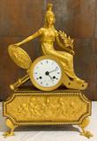 """Арт-студия """"Кентавр"""" - Часы каминные """"Мир"""" с фигурой богини Беллоны №014546"""