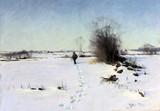"Арт-студия ""Кентавр"" - ""Зимний пейзаж c охотником"" 1891 год №014575"