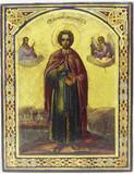 """Арт-студия """"Кентавр"""" - Старинная икона """"Святой великомученик Пантелеймон"""" №014695"""
