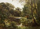 """Арт-студия """"Кентавр"""" - """"Лесной пейзаж с рекой"""" №014733"""