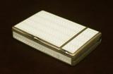 """Арт-студия """"Кентавр"""" - Антикварный портсигар, украшенный гильошированной эмалью №014759"""