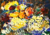 """Арт-студия """"Кентавр"""" - """"Цветы на синем фоне"""" №014769"""