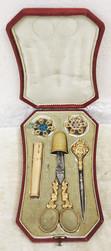 """Арт-студия """"Кентавр"""" - Старинный золотой набор для рукоделия из 7 предметов №014781"""