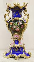 """Арт-студия """"Кентавр"""" - Антикварная ваза с цветами и раковинами в стиле барокко №014796"""