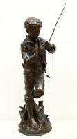 """Арт-студия """"Кентавр"""" - Бронзовая скульптура """"Рыбак с удочкой"""" №014870"""