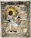 """Арт-студия """"Кентавр"""" - Антикварная икона """"Святой пророк Илия"""" в окладе №014874"""