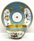 """Арт-студия """"Кентавр"""" - Чайная пара с цветочными резервами №014901"""