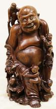 """Арт-студия """"Кентавр"""" - Старинная деревянная скульптура """"Хотей"""" №014980"""