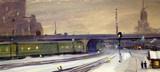 """Арт-студия """"Кентавр"""" - «Зимним вечером на железной дороге» №014995"""