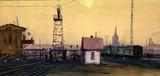 """Арт-студия """"Кентавр"""" - """"Железная дорога на окраине Москвы"""" №015077"""