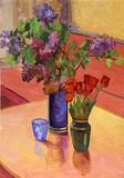 """Арт-студия """"Кентавр"""" - """"Натюрморт с тюльпанами и сиренью"""" №015093"""