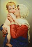 "Арт-студия ""Кентавр"" - Старинный фарфоровый пласт ""Мадонна с младенцем"" №015107"