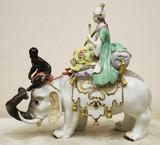 """Арт-студия """"Кентавр"""" - Старинная статуэтка """"Персиянка на слоне"""" №015118"""