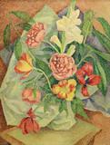 """Арт-студия """"Кентавр"""" - """"Натюрморт с букетом цветов в белой вазе"""" №015124"""
