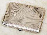 """Арт-студия """"Кентавр"""" - Старинный серебряный портсигар с надписью """"Мама"""" №015134"""
