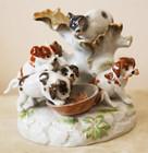 """Арт-студия """"Кентавр"""" - Старинная статуэтка """"Кот и собаки"""" №015152"""