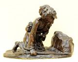 """Арт-студия """"Кентавр"""" - Бронзовая скульптура """"Линейный казак в засаде"""" №015195"""