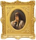 """Арт-студия """"Кентавр"""" - Фарфоровый пласт «Одалиска» (копия картины Густава Рихтера) №015212"""