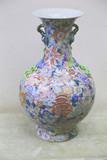 """Арт-студия """"Кентавр"""" - Старинная китайская ваза с цветами и ручками в виде яблоневых ветвей №015355"""