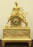 """Арт-студия """"Кентавр"""" - Старинные каминные часы с фигурой пастушки №015376"""