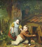 "Арт-студия ""Кентавр"" -  Де Бракелер Фердинанд (1792-1883) - ""Дети у курятника"" 1860г. №004841"