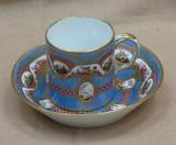 """Арт-студия """"Кентавр"""" - Старинная фарфоровая чайная пара. №005729"""