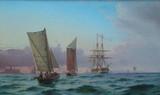 """Арт-студия """"Кентавр"""" - Нойман Йохан Карл (1833-1891) - """"Морской пейзаж"""" 1868г №007645"""