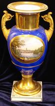 """Арт-студия """"Кентавр"""" - Большая дворцовая антикварная ваза с архитектурным пейзажем.1830г №007827"""