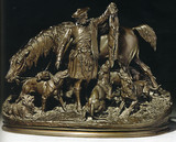 """Арт-студия """"Кентавр"""" - Скульптура бронзовая """"Охота в Шотландии"""". №007861"""