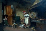 "Арт-студия ""Кентавр"" - Галеацци Джованни Гаэтано (1870-1938) - ""Дети, играющие на кухне"" 1904 г №008008"