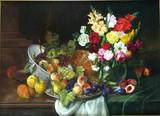"Арт-студия ""Кентавр"" -  Цабелики Алоиз (1883-1962)  ""Натюрморт с цветами и фруктами"" №008192"