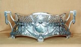 """Арт-студия """"Кентавр"""" - Фруктовница в неоклассическом стиле, хрусталь в серебре №008296"""