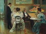 """Арт-студия """"Кентавр"""" - Везин Фредерик (1859-1942) - """"Вечер в гостиной"""" №008459"""